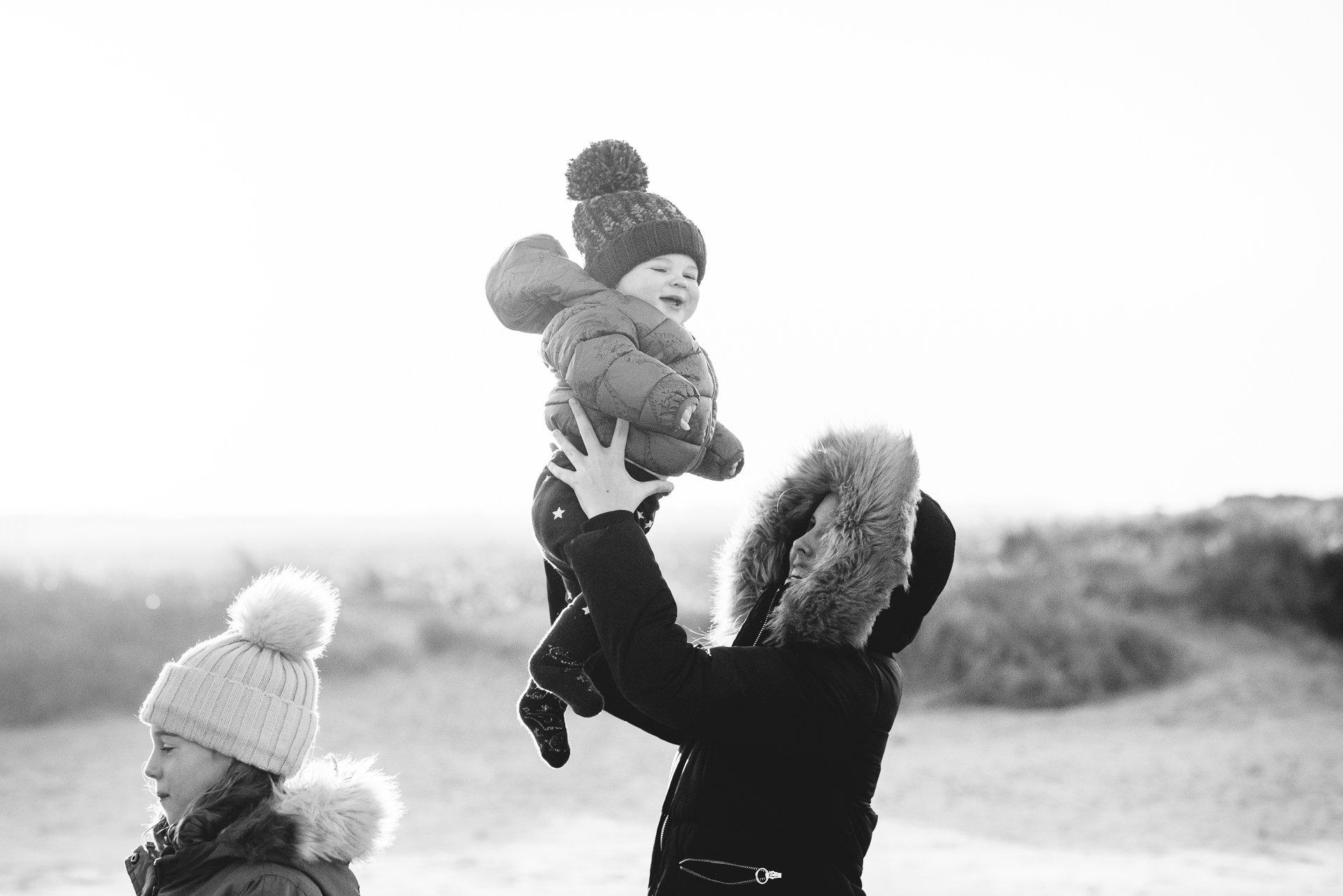 Family photography on UK beaches