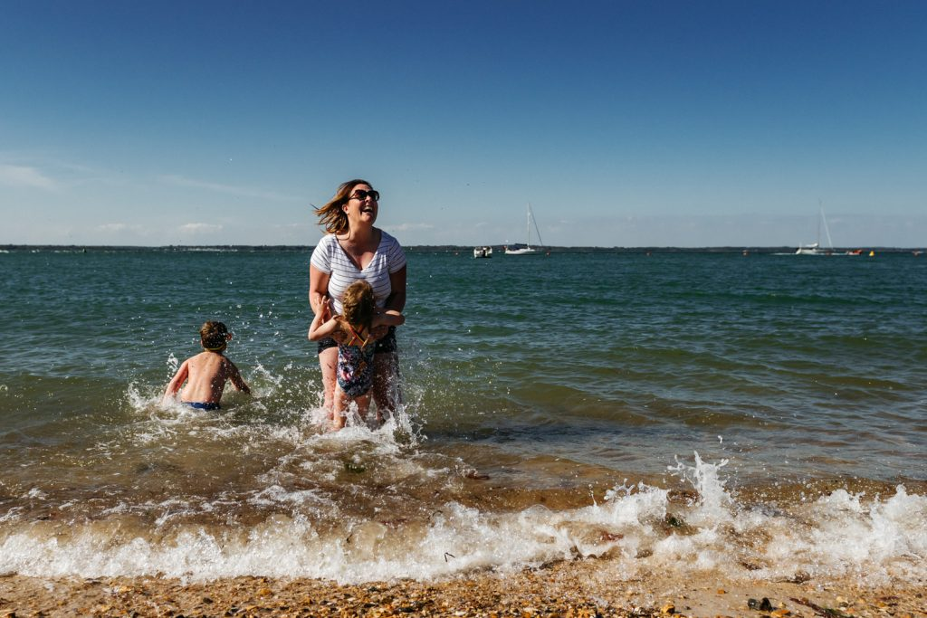 Documentary Family Photographer for beach days out. Unposed, natural, real life moments.